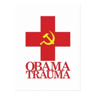 Trauma de Obama Tarjeta Postal