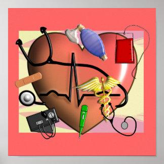 Trauma/ER  Nurse ART Poster