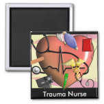 Trauma Nurse Art Gifts Fridge Magnets