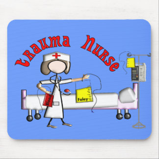 Trauma Nurse Gifts Embossed Graphics Mouse Pad