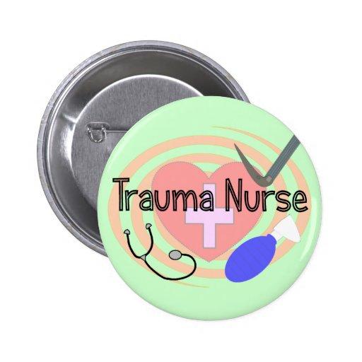 """Trauma Nurse"" Gifts Pinback Buttons"