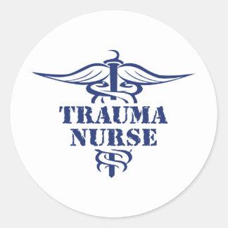 trauma nurse round stickers