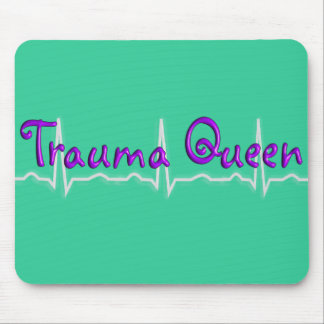 """Trauma Nurse """"Trauma Queen' T-Shirts and Gifts Mouse Pad"""