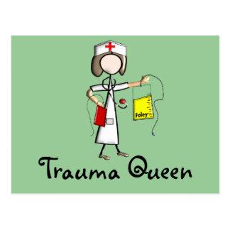"Trauma Nurse ""Trauma Queen""  T-Shirts and Gifts Postcard"