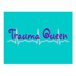 "Trauma Nurse ""Trauma Queen' T-Shirts and Gifts Postcard"