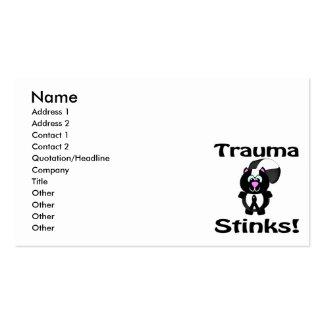 Trauma Stinks Skunk Awareness Design Business Cards