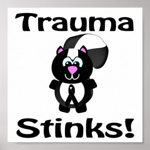 Trauma Stinks Skunk Awareness Design Poster