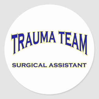 Trauma Surgical Assistant Classic Round Sticker