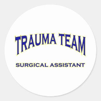 Trauma Team Classic Round Sticker
