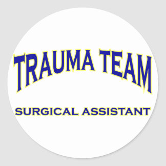 Trauma Team Round Sticker