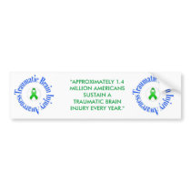 Traumatic Brain Injury Awareness Bumper Sticker