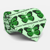 Traumatic Brain Injury Awareness Butterfly Ribbon Neck Tie