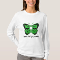 Traumatic Brain Injury Awareness Butterfly Ribbon T-Shirt