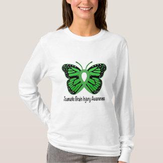 Traumatic Brain Injury Awareness Butterfly Ribbon T-Shirt