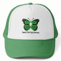 Traumatic Brain Injury Awareness Butterfly Ribbon Trucker Hat