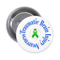 Traumatic Brain Injury Awareness Button