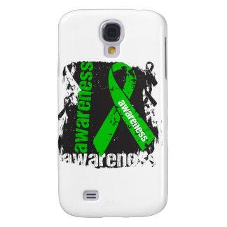 Traumatic Brain Injury Awareness Grunge Ribbon Galaxy S4 Cover