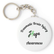 Traumatic Brain Injury Awareness Key Chain