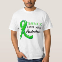 Traumatic Brain Injury Awareness Ribbon T-shirt