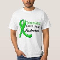 Traumatic Brain Injury Awareness Ribbon Tee Shirts