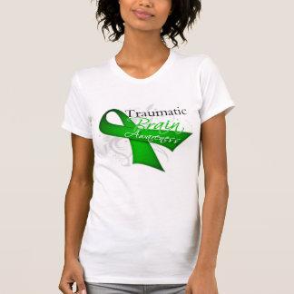 Traumatic Brain Injury Awareness Ribbon Tee Shirt