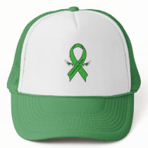 Traumatic Brain Injury Awareness Ribbon with Wings Trucker Hat