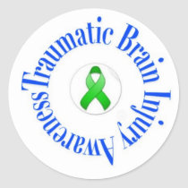 Traumatic Brain Injury Awareness Stickers