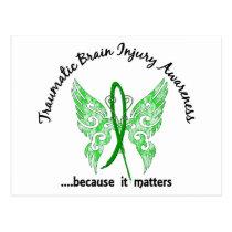 Traumatic Brain Injury Butterfly 6.1 Postcard