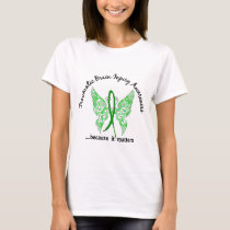 Traumatic Brain Injury Butterfly 6.1 T-Shirt