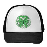 Traumatic Brain Injury Butterfly Circle of Ribbons Trucker Hat