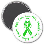Traumatic Brain Injury Fight Cure Hope Logo Fridge Magnet