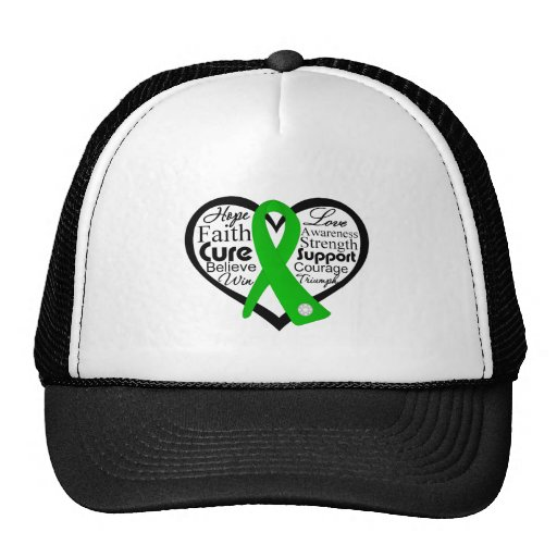 Traumatic Brain Injury Heart Ribbon Collage Mesh Hat
