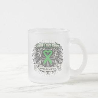 Traumatic Brain Injury Hope Love Cure Frosted Glass Coffee Mug