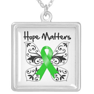 Traumatic Brain Injury Hope Matters Square Pendant Necklace