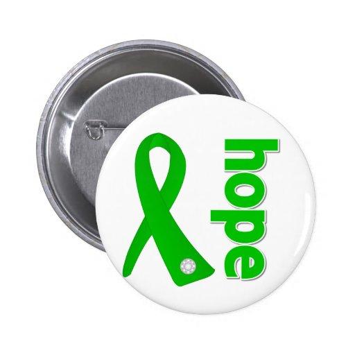 Traumatic Brain Injury Hope Ribbon Buttons