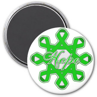 Traumatic Brain Injury Hope Unity Ribbons 3 Inch Round Magnet