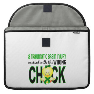 Traumatic Brain Injury Messed With Wrong Chick MacBook Pro Sleeve