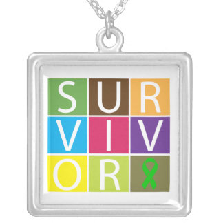Traumatic Brain Injury Survivor Colorful Tiles Necklace