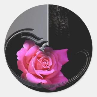 Traurige Romantik Classic Round Sticker