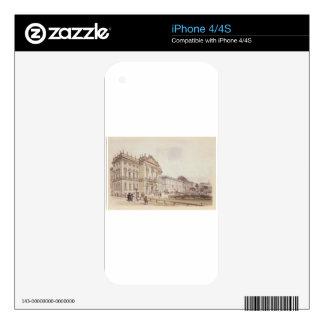 Trautson Palace in Vienna by Rudolf von Alt Decals For iPhone 4