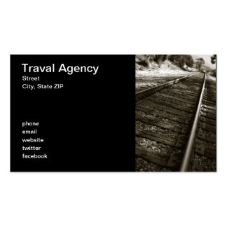 Traval Agency Double-Sided Standard Business Cards (Pack Of 100)
