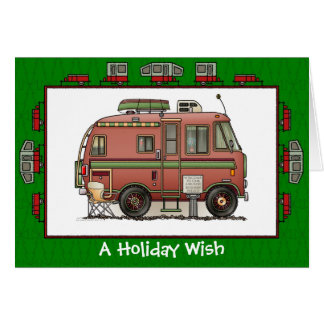Travco Camper RV Holiday Wish Greeting Card