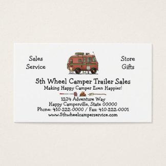 Travco Motor Home Camper RV Business Card