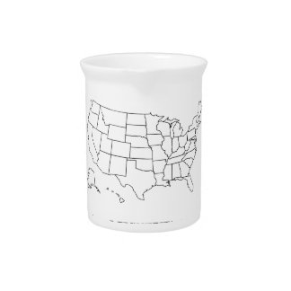 Travei all fifty state marker drink pitcher