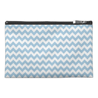 Travel Accessories Bag, Blue and White Chevrons Travel Accessory Bag