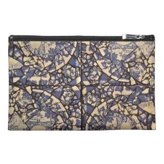 Travel accessory bag designed from ceramic tiles