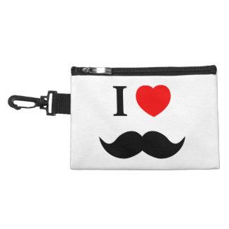 Travel Accessory Bag I love mustache