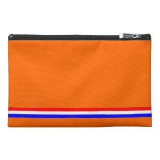 Travel Accessory Bag Orange with Dutch Flag