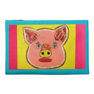 Travel Accessory Bag with Cute Pig Design