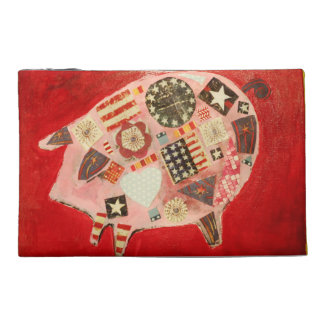Travel Accessory Bag with Patriotic Pig
